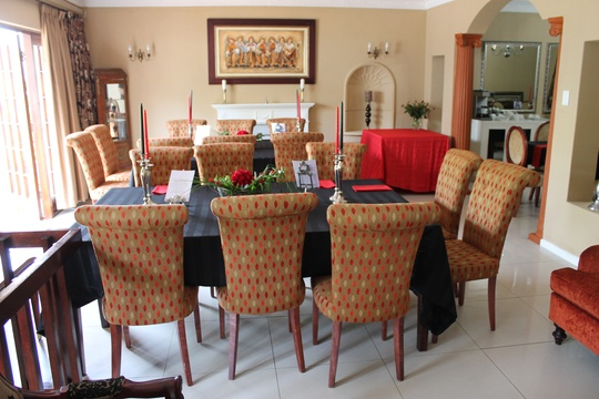 Table setting and event at Dark Chocolate Guest house